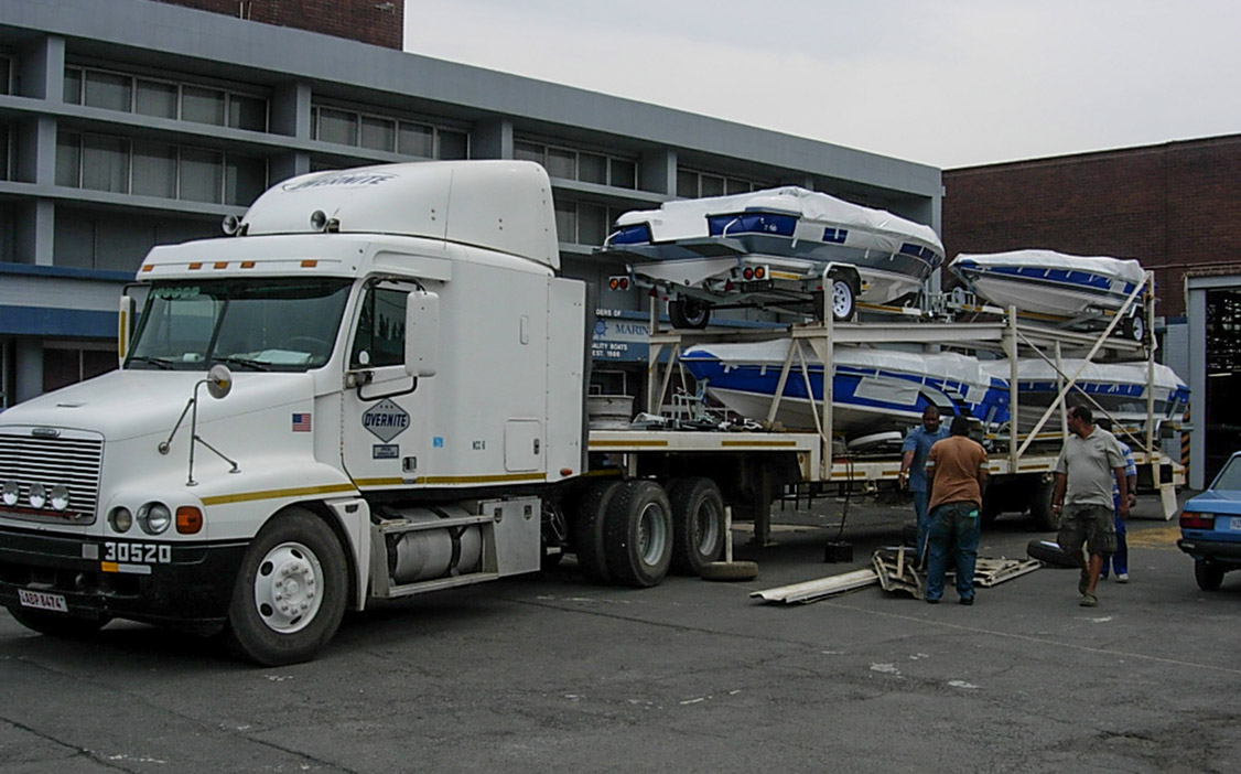 TRANSPORTING BOATS TO ZAMBIA